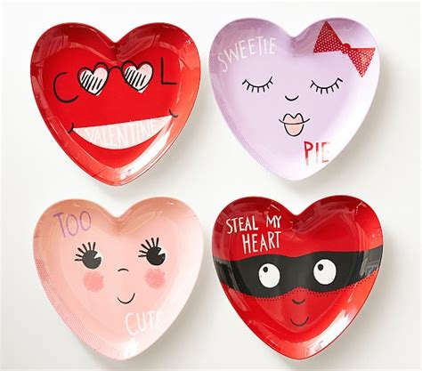 valentines day plates s day shaped plates pottery barn