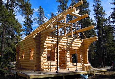 building a log cabin building a log cabin american log crafters