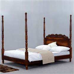 Wooden Four Poster Bed Frame Solid Wood Four Poster Platform Bed Frame W Headboard