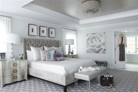 Gray Bedroom Tray Ceiling Gray And Silver Bedroom With Gray Tray Ceiling