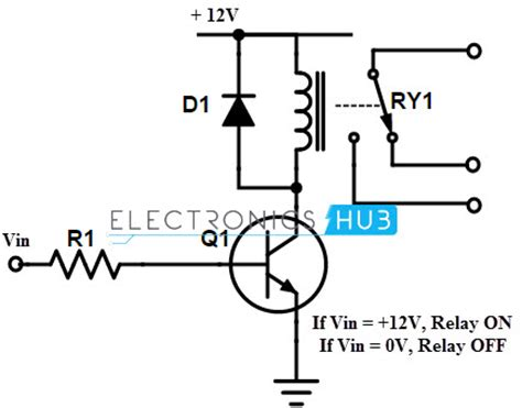 transistor driver circuit for relay electromechanical relay