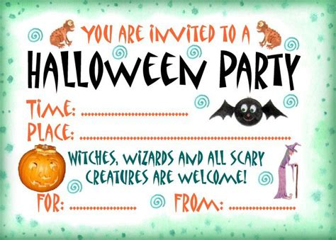 halloween party invitation rooftop post printables