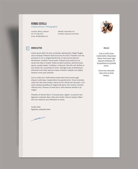 Resume With Cover Letter by Free Professional Resume Cv Template With Cover Letter