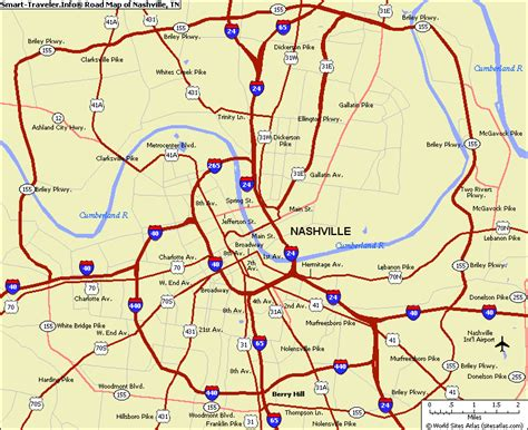 map nashville tn map of nashville tn and surrounding areas bnhspine
