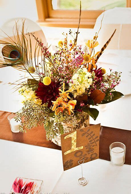 7 GORG Fall Wedding Centerpiece Ideas in 2019   Feathered