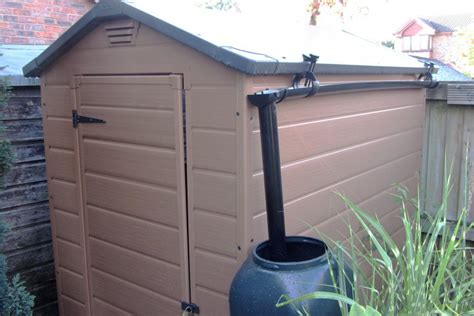 Guttering For Shed by How The Rainsaver Fits Any Size Shed S Rainsaver