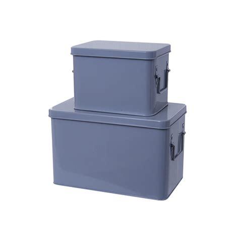 Metal Storage Box metal storage box set of 2 mouse grey homeware thehut