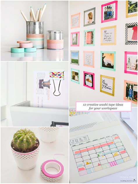 washi tape designs 12 creative washi tape ideas for your workspace fox and