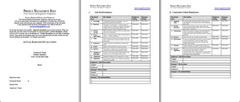 Annual Performance Review Template Beneficialholdings Info Annual Review Template