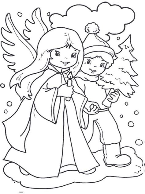 boy angel coloring page 17 best images about christmas angel coloring page on