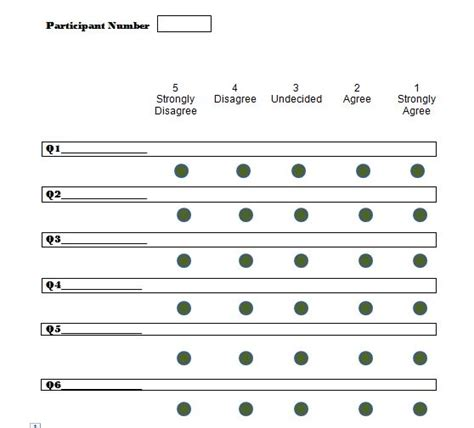10 Point Likert Scale Template 30 free likert scale templates exles template lab