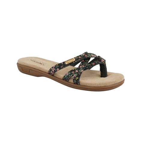 bass sandals g h bass co flat sandals in black black