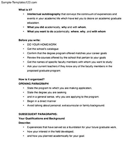 letter of intent format graduate school sle templates