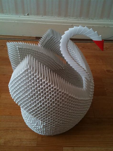 Origami 3d Model - swan 3d origami model 2 by unsjn on deviantart