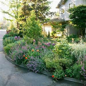 front yard sidewalk garden ideas
