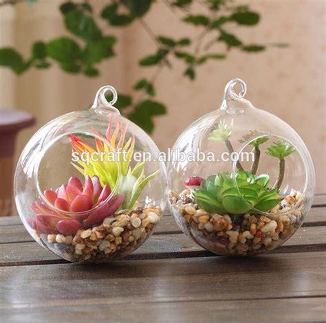 Pot Vas Bunga Handmade 06 piante grasse in vetro cerca con piante e fiori
