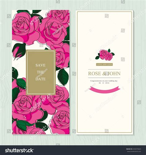 wedding invitation card suite with flower templates free wedding invitation card suite flower templates stock