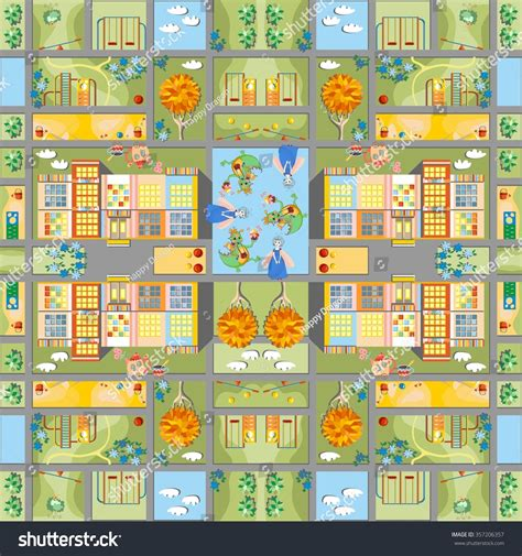 cute map pattern cute cartoon map seamless pattern of summer city in