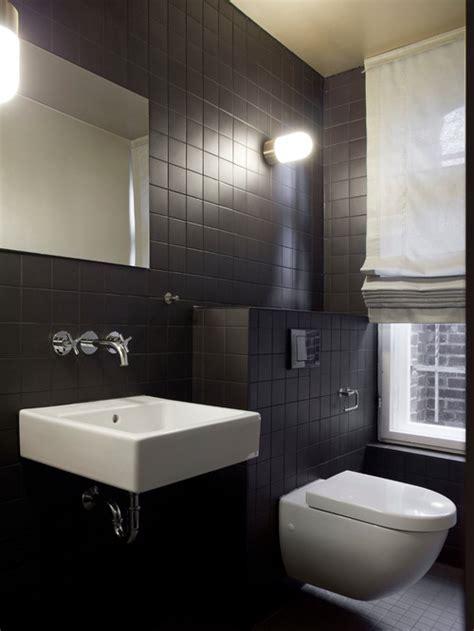 kleine badezimmerboden fliese ideen schwarze fliesen badezimmer