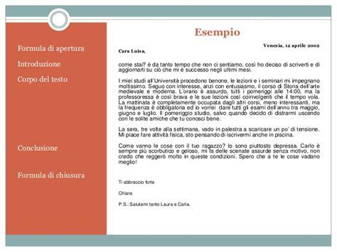 esempi di lettere informali lettera email
