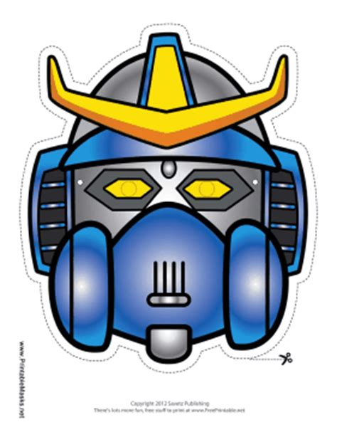 printable robot mask printable robot with horns crest mask mask