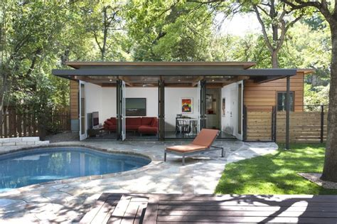 awesome small backyard guest house plans #5: small-pool-house-kits