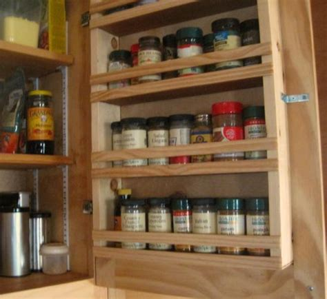 Spice Rack For Inside Cabinet Door custom touch for do it yourself cabinets a built in spice rack