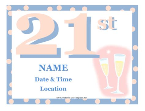 21st Birthday Party Flyer 21st Birthday Template