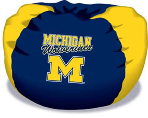 Mi Bean Bag Chair Michigan Wolverines Bean Bag