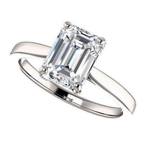 colby ring emerald cut moissanite engagement ring