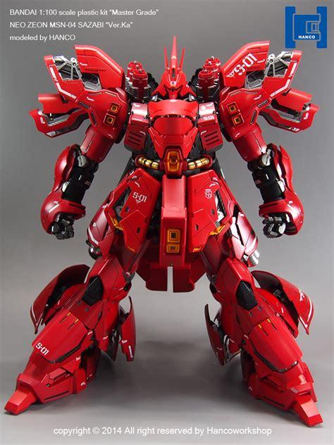 Gundam Msn 04 Sazabi Mg Bandai mg 1 100 msn 04 sazabi ver ka modeled by hanco