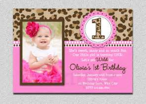 leopard birthday invitation 1st birthday invitation