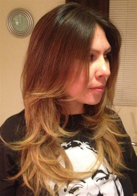 long hair short layer cut and blow out beautiful ombre long layered cut and blowout hair n beauty