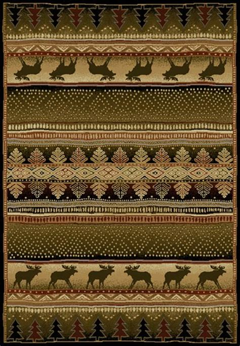 moon light moose area rug rustic rugs picture