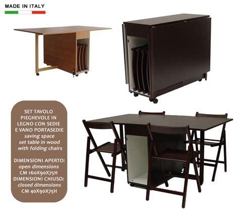 tavoli pieghevoli da interno set tavolo pieghevole in legno con sedie e vano portasedie