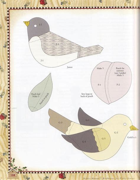 bird pattern applique ideas pinterest
