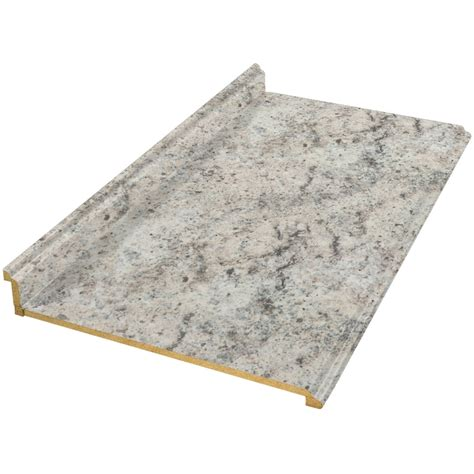 lowes kitchen countertops laminate shop vti laminate countertops 10 ft madura pearl