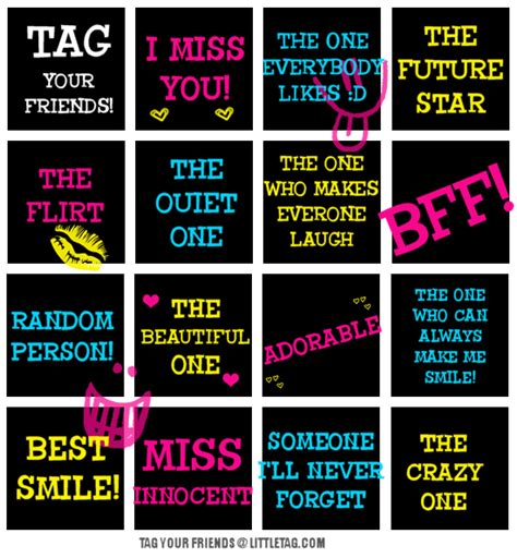 best tags for tag your friends mylittletags