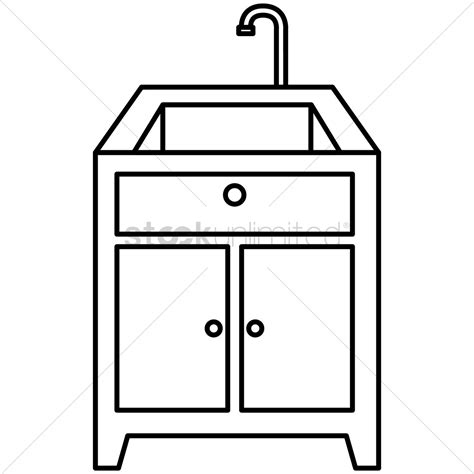 kitchen sink and counter kitchen sink and counter top vector image 1462788