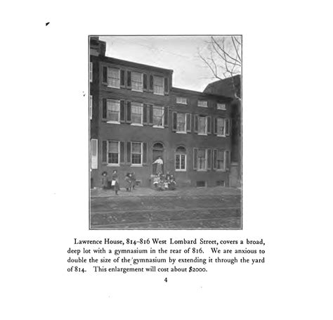 lawrence house baltimore settlements lawrence house and warner house social welfare history project