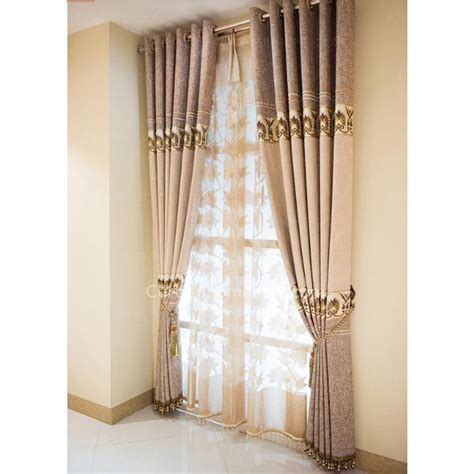 modern brown curtains modern curtains light brown pattern jacquard linen cotton