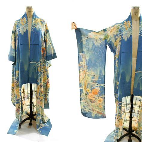 pattern for long kimono 1930s furisode kimono with extra long sleeves sheer