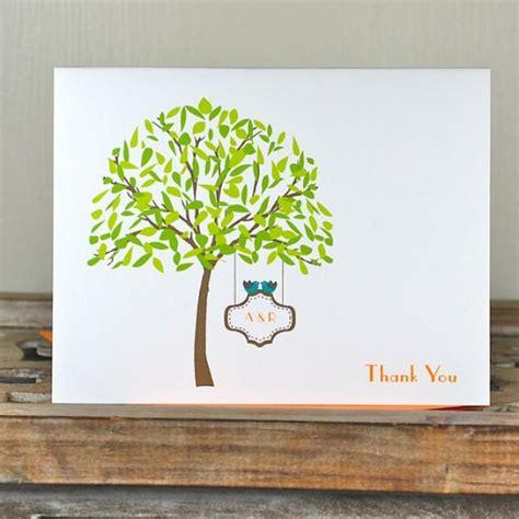 Gift Card Tree For Wedding Shower - wedding thank you cards bridal shower thank you cards love birds lovebirds just