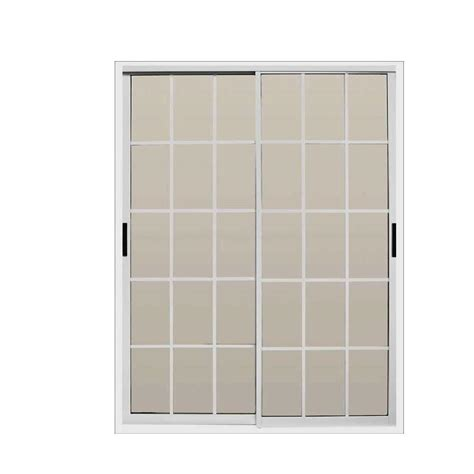 60 Sliding Glass Patio Door Air Master Windows And Doors 60 In X 80 In Aluminum Sliding Patio Door 30157 The Home