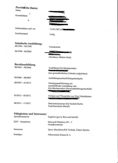 Lebenslauf Schulische Ausbildung Weglassen Fragen Zum Lebenslauf Zusammenfassung 252 Bersichtlichkeit Bewerbungsforum