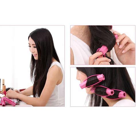 Alat Keriting Rambut Magic Leverage Hair Curler roll keriting rambut 6 pcs pink jakartanotebook