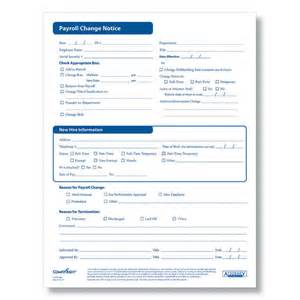 payroll change notice form template backupcontent