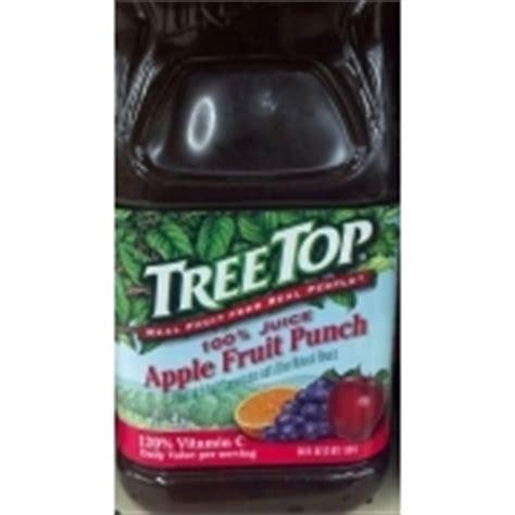 fruit punch tree tree top 100 juice apple fruit punch calories
