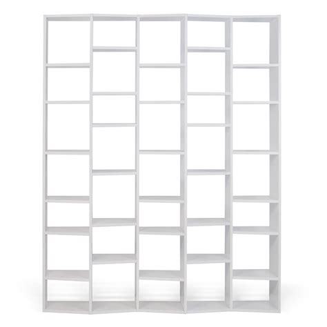 72 white bookcase modern bookcases valsa 72 quot bookcase eurway furniture