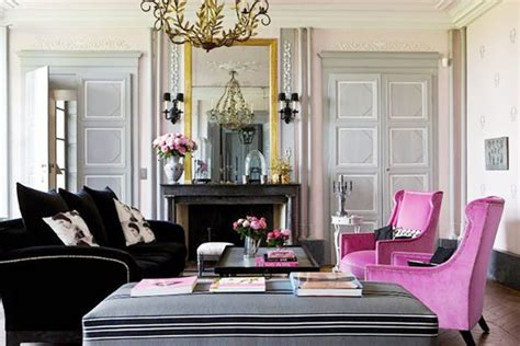 black and pink living room cococozy french finesse a charming country manor